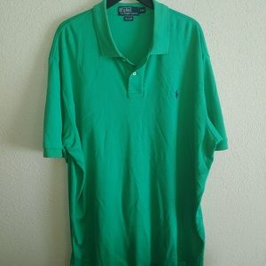 Mens 2x Green Polo shirt